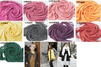 Wholesale 140pcs hot item Pashmina Cashmere Silk Solid Shawl Wrap Unisex Long Range Scarf Women s Girls Ladies Scarf Pure Color