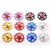 Wholesale 11T Aluminum Alloy Bike Accessories Bicycle Rear Derailleur Jockey Wheel Road MTB Bike Guide Roller Idler Pulley Part Cycling