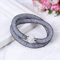 Wholesale New Stardust Bracelet Shining Micro Resin Crystal Bracelet Crystal Mesh Tube Stardust Bracelets Magnetic Clasp Bracelets Stardus