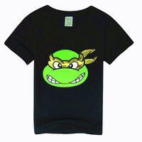 Wholesale 1pcs New teenage mutant ninja turtles boy t shirts Y for summer cartoon fashion tops tee children kids boys t shirts