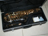 Wholesale Nickel Plated body TENOR saxophone With case Tenor Saxophone Sample cheap sale hard case have been broken