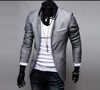 Wholesale Fashion Spring and Autumn Men Solid Color Leisure Pocket Posts Cloth Design Small Suit Jacket Coat
