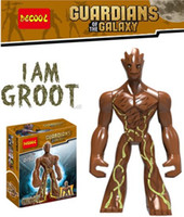 Wholesale Groot cm Figures Marvel Super Hero Guardians of The Galaxy Big Minifigures Building Blocks Toys decool