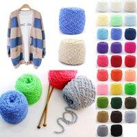 knitting yarn - New Arrivals Clothing Fabric Knitting Wool Yarn Balls Soft Cashmere Crochet Skein Woven Short plush Weight g CX47