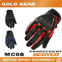atv riding gear - 2016 Scoyco MC08 guantes Motorcycle Racing Gloves Full Finger Biker Protective Gear Motorbike Riding motos motocicleta MX ATV