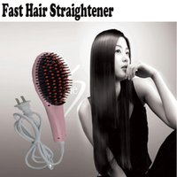 Wholesale Fast Hair Straightener Straight Hair Styling Tool Straightening Flat Irons LED Digital Temperature Brush Comb for Sale