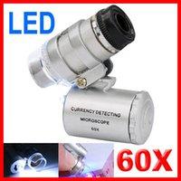 Wholesale Mini Jeweller X Pocket Microscope Jewelry Magnifier Loupe Glass LED Light