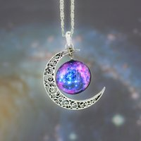 vintage jewelry - New Vintage Womens Fashion Jewelry stall time Star Moon Time Gemstone Pendant Chain Necklace