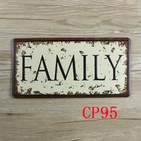 Wholesale CP95 Family license plate Vintage Metal Tin Signs Bar Pub Cafe Home Art Metal Signs Size about cm