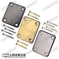 bass guitar neck - Chrome plated silver steel seal electric guitar stiffen plate bass violin neck connect board brace sheet reinforcement plate with screw