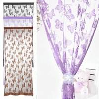 Wholesale Butterfly Pattern Tassel String Door Curtain Window Room Divider Curtain Valance Drop Shipping