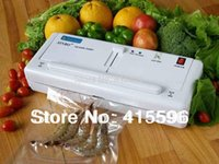 Wholesale TV Home Electric Vacuum Heat Sealing Machine Household Food Packing Sealers Kitchen Appliances Food Saver Preserver bags