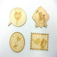 crafts and gifts - 4 styles mixed fancy design lover themed Wood Shapes Scrapbooking Wooden Veneers Embellishment DIY Craft items for art decoration and gift