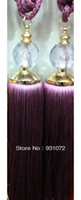 Wholesale 40pc Free FedEx shipping Crystal Curtain Tassel Tieback