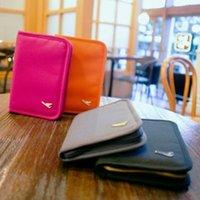 air travel tickets - Card bag passport air tickets bag travel storage bag men women purse wallet canvas