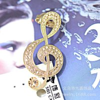 atmospheric music - Music notation woman full of diamond earrings ear jewelry trade boutique single earhook high atmospheric models