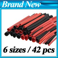 Wholesale Sizes Ratio Red Black Polyolefin H type Heat Shrink Tubing Tube Sleeve Sleeving Cable Wrap Wire Kit order lt no tr
