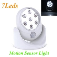 Wholesale Wall Lamps Degree LEDS Porch Lights Rotation Light V White Cordless Motion Activated Sensor Light