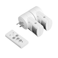 Wholesale 2 Pack Wireless Remote Control Power Outlet US EU Plug Socket Switch Set for Lamps Household Appliance V V order lt no track