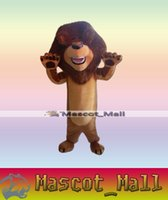 Wholesale MALL219 Style Custom Character Animal Madagascar Lion Cartoon Mascot Festive Costumes Costume Christmas Clothe Adult Halloween Fancy Dress