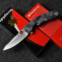 spyderco - Spyderco Knife SP156 Camouflage survival camping knife Military Brad Southard CTS P Carpenter Steel Blade G10 handle