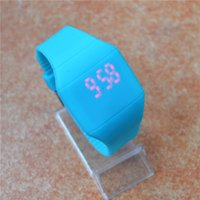 animal shaped candy - Cheap Colorful LED Touch screen Watch Jelly Candy Extra thin Silicone Waist Watches DHL FedEx