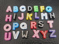 Wholesale Colored rhinestones letter English alphabet Pet collar accessories