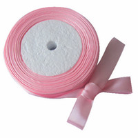 satin ribbon - 10 Roll Yards quot mm Pink Satin Ribbon Craft Bow Wedding Gift Decoration Colors RIB