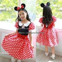 Wholesale Christmas Dress Minnie Party Dress Princess Dress Korean Fashion Dresses Girl Dress Summer Dresses Kids Dress Children Clothes Kids Clothing