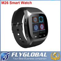 Bluetooth montre Smart Watch Smartwatch Montres M26 avec Baromètre d'affichage LED Alitmeter Music Player podomètre pour Android IOS Mobile Phone