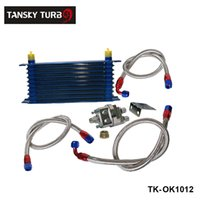 Wholesale Tansky UNIVERSAL ROW OIL COOLER KIT WITH OIL FILTER RELOCATION KIT FOR TURBO RACE TK OK1012