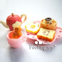 afternoon tea accessories - Dollhouse mini doll house furniture model accessories bjd delicious afternoon tea aroma