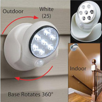 Wholesale White Wireless Intelligent V LEDs Cordless Motion Activated Sensor Light Rotates Degree Security Safety LED Light