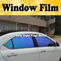 Wholesale High Quality Purple Blue Chameleon Car Window Tint Roll Chameleon Car Solar Window Film For Car Window Size m Roll