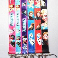 Wholesale mixed frozen Lanyard with Lobster Clasp Fit Key ID Mobile Cell Phone Key chain sh8