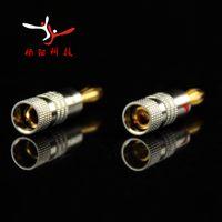 audio binding posts - mm Nakamichi Banana Plug K Gold Plated Speaker Copper Adapter Audio Jack Socket Screw Binding Post Connector RCDNK