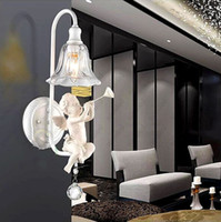 wall sculpture - new design Modern Fashion Angel children Wall lamp white sculpture Balcony Wall lights hotsell HSA1421