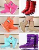 Wholesale 2014 Popular Snow Boots For Women Flat Heel Colors Plus Size Winter Boots Waterproof Botas Size