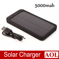 Wholesale Ultra thin fashion W mAh portable solar panel battery charger for smartphone iPhone Samsung HTC and More Power Bank