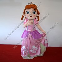 Cheap Sofia Princess Mascot Costume Adult Size Clothing Fancy Dress Cartoon Character Outfits Drop Shipping 1piece lot
