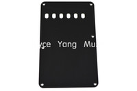 Wholesale Black White PLY Electric Guitar Back Plate Tremolo Cover Hole For Fender Strat Style Electric Guitar Pickguard