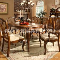 apartment living furniture - The oak wood table table Yu American restaurant of European large sized apartment furniture export table