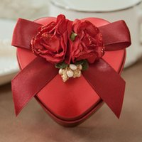 Wholesale 2015 wedding candy boxes and European heart shaped tin gift box packing box CM