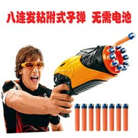 Wholesale 2014 Rushed Dartboard Electronic Jogo De Dardos Hot Selling Hasbro Nerf Soft Bullet Gun Double Launcher