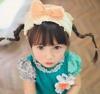 Wholesale Korean Style Girls Chiffon Bowknot Hair Sticks Childs Butterfly Hairband Children Girls Party Accessories Princess Hair Pin E1649