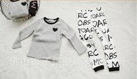 baby at home - Spring Baby Kids Outfits Clothes Pure Cotton At Home Children Boy Girl Sets Long Sleeve T shirt Pants Child Set90 HR267