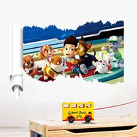 art marshall - 3d Ryder Marshall Rubble Cute Cartoon dog Wall Sticker Vinyl Art Decals Kids Room Decor