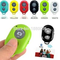 Wholesale Wireless Bluetooth Self Timer Shutter Release Camera Remote Controller for iPhone Plus Samsung s5 S3 Smart android Phone