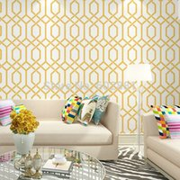Wholesale Modern Hourglass Trellis Wallpaper Herringbone Geometric Home Wall Paper Green Orange colors W0 m L10m roll
