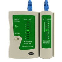 Wholesale 2015 retail RJ45 RJ11 Cat5e Cat6 Network Lan Cable Tester Test Tool Cable Testers high quality